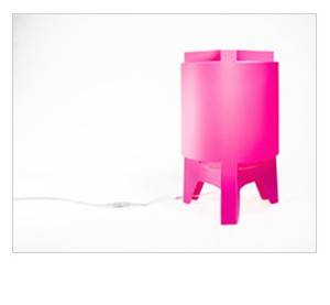Image of   Orbit Maxi - Gulvlampe (Pink)