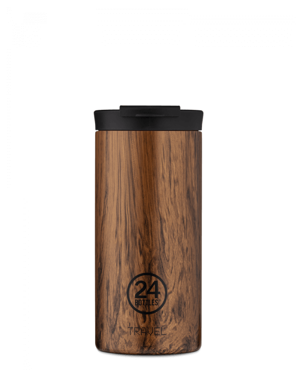 Image of   24Bottles - Travel Tumbler - Termokrus - Sequoia Wood - 600 ml