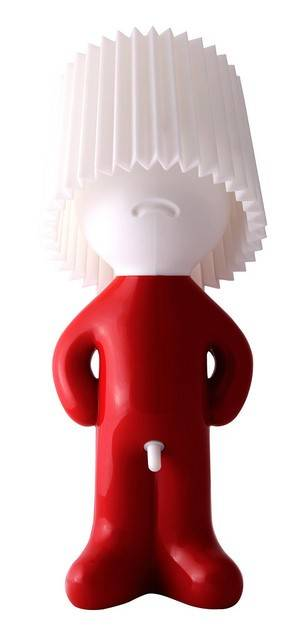 Image of   Bordlampe - Mr. P Shy Man Show (Rød krop / Hvid skærm)