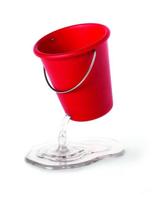 Image of   Opbevaring til kontorartikler - Desk Bucket (Rød)