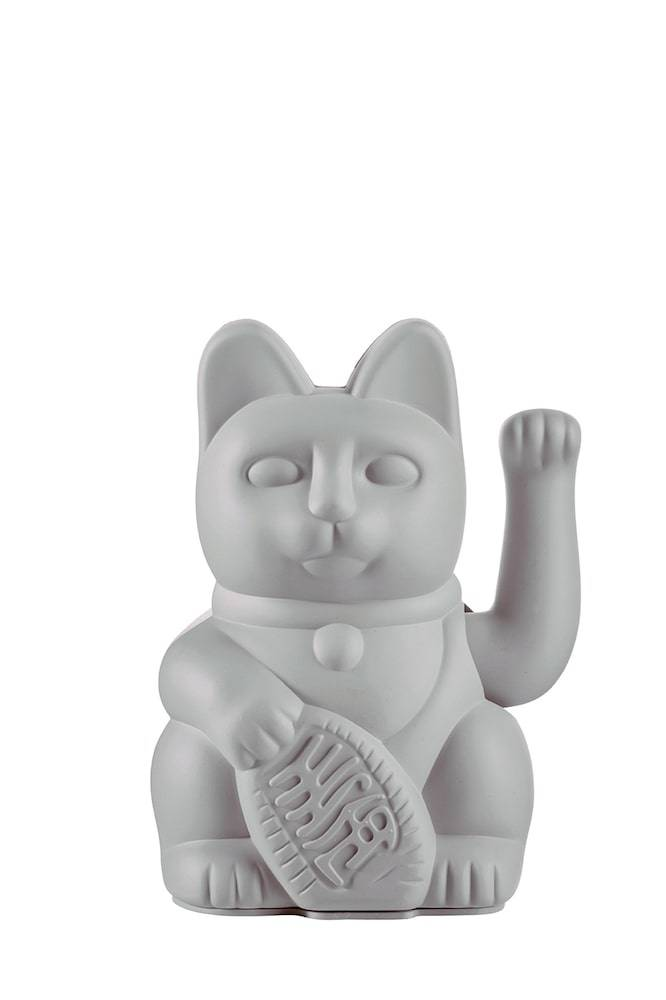 Vinkekat - Maneki-Neko - Lucky Cat (Grå) thumbnail