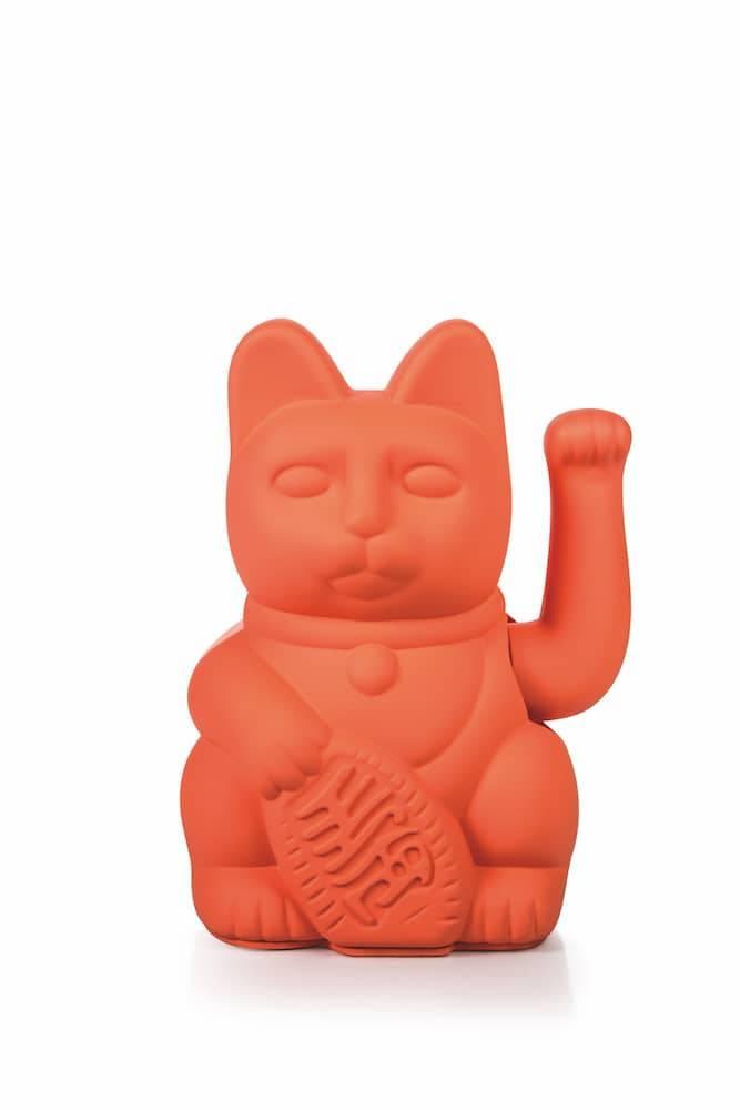 Vinkekat - Maneki-Neko - Lucky Cat (Neon pink) thumbnail