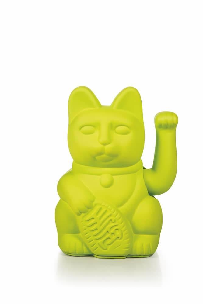 Vinkekat - Maneki-Neko - Lucky Cat (Neon grøn) thumbnail