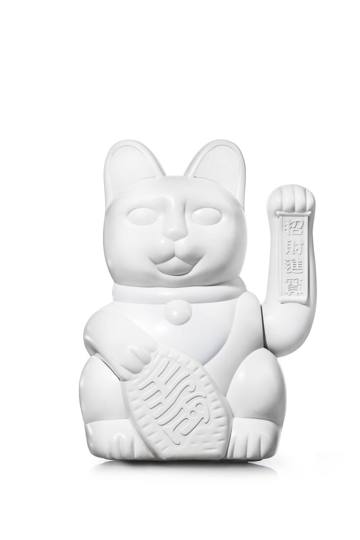 Gigantisk vinkekat - Maneki-Neko - Giant Lucky Cat (Hvid) thumbnail