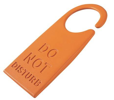 Image of   Dørstopper - Do not disturb (Orange)