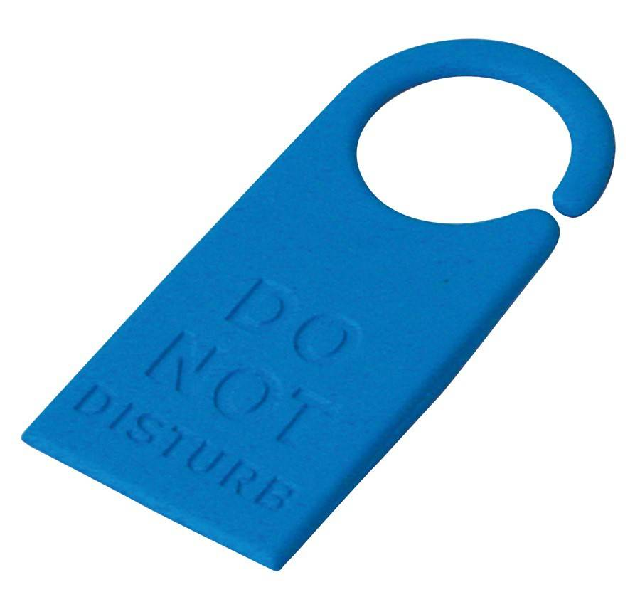 Image of   Dørstopper - Do not disturb (Blå)