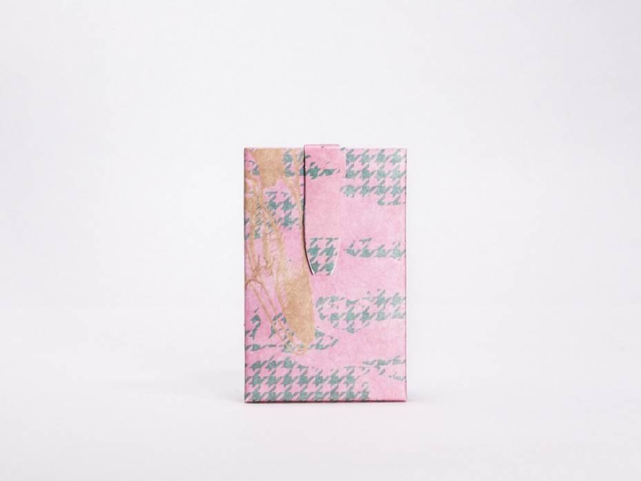 Image of   Kortholder - Houndstooth Pink