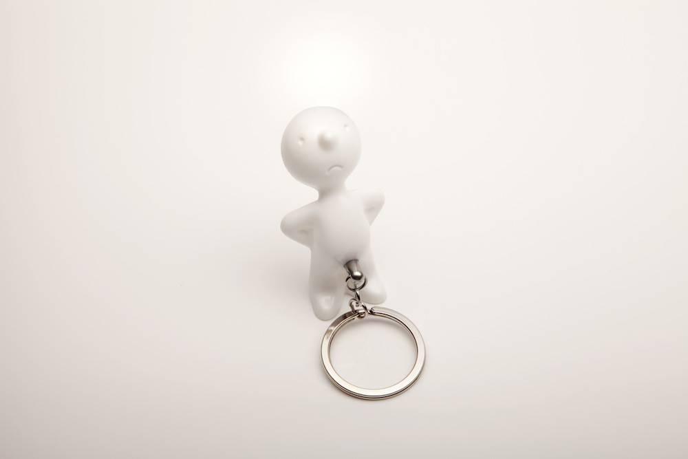 Image of   Nøglering - Mr. P One Man Key (Hvid)