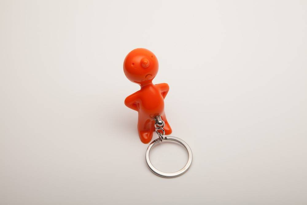 Image of   Nøglering - Mr. P One Man Key (Orange)