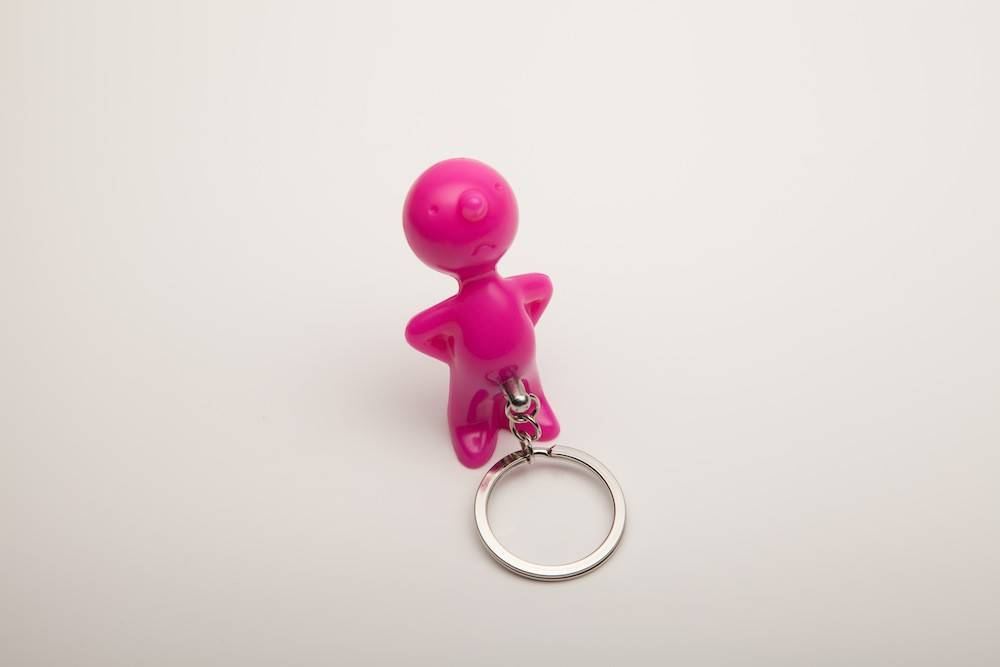 Image of   Nøglering - Mr. P One Man Key (Pink)