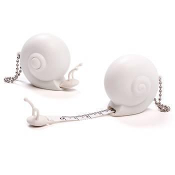 Image of   Målebånd - 1m Snail (Hvid)