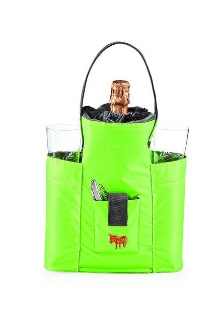Image of   Cykeltaske til champagne/vin - Donkey Lady (Grøn/Grå)