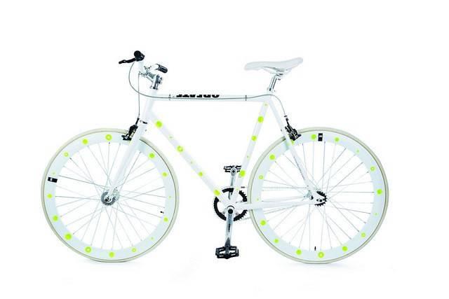 Image of   Cykelrefleks - Bikereflex (Gule cirkler)