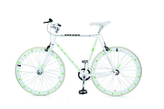 Image of   Cykelrefleks - Bikereflex (Grønne triangler)
