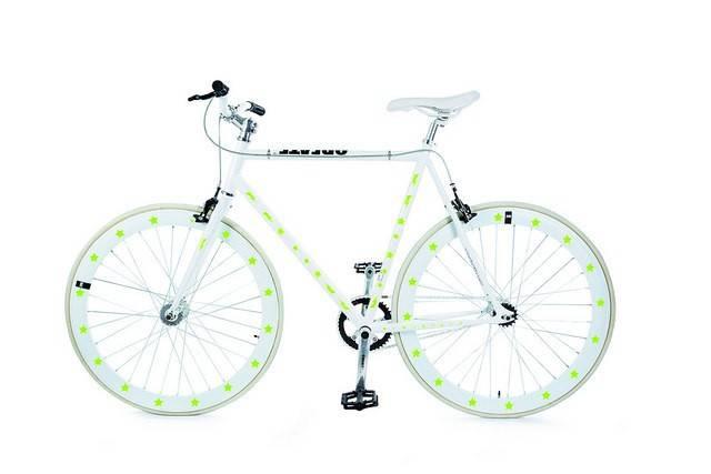 Image of   Cykelrefleks - Bikereflex (Gule stjerner)