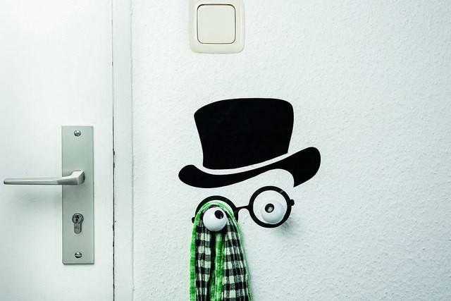 Image of   Knag med wallstickers - Hooklys (Mister Hookly)