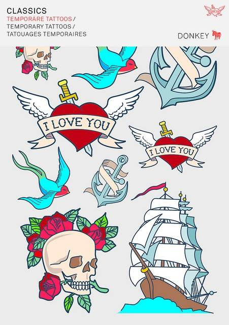 Image of   Midlertidige Tattoos - Style-Tattoos (Classics)
