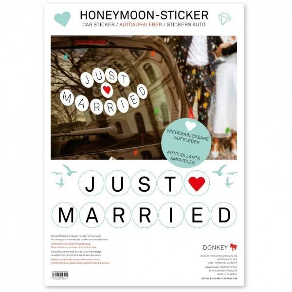 Klistermærker - Just Married (Honeymoon-Sticker) thumbnail