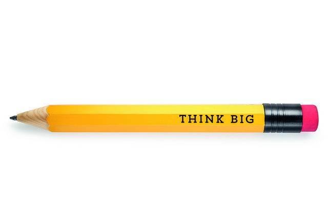 Image of Blyant med viskelæder - Think Big (XXXL blyant)