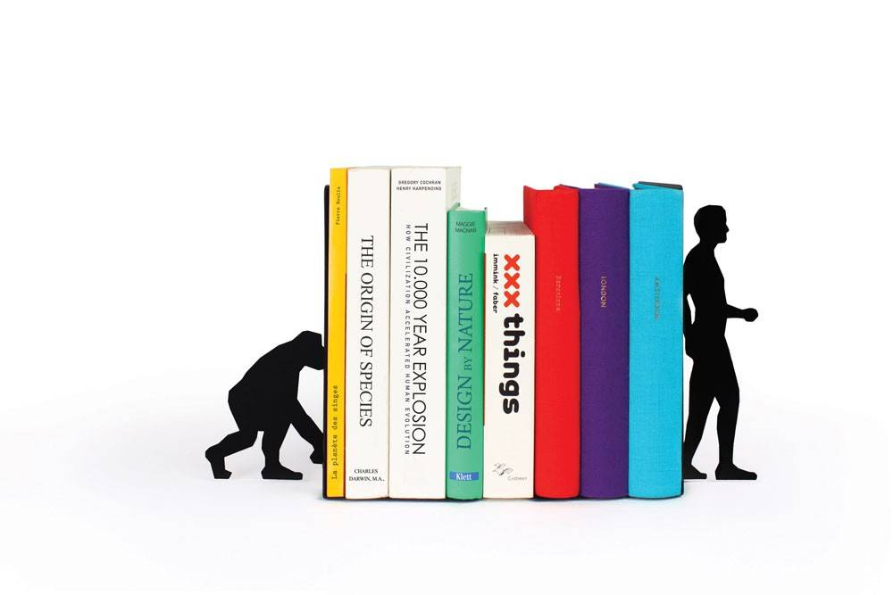 Image of   Bogstøtte - Evolution Bookend (Sort)