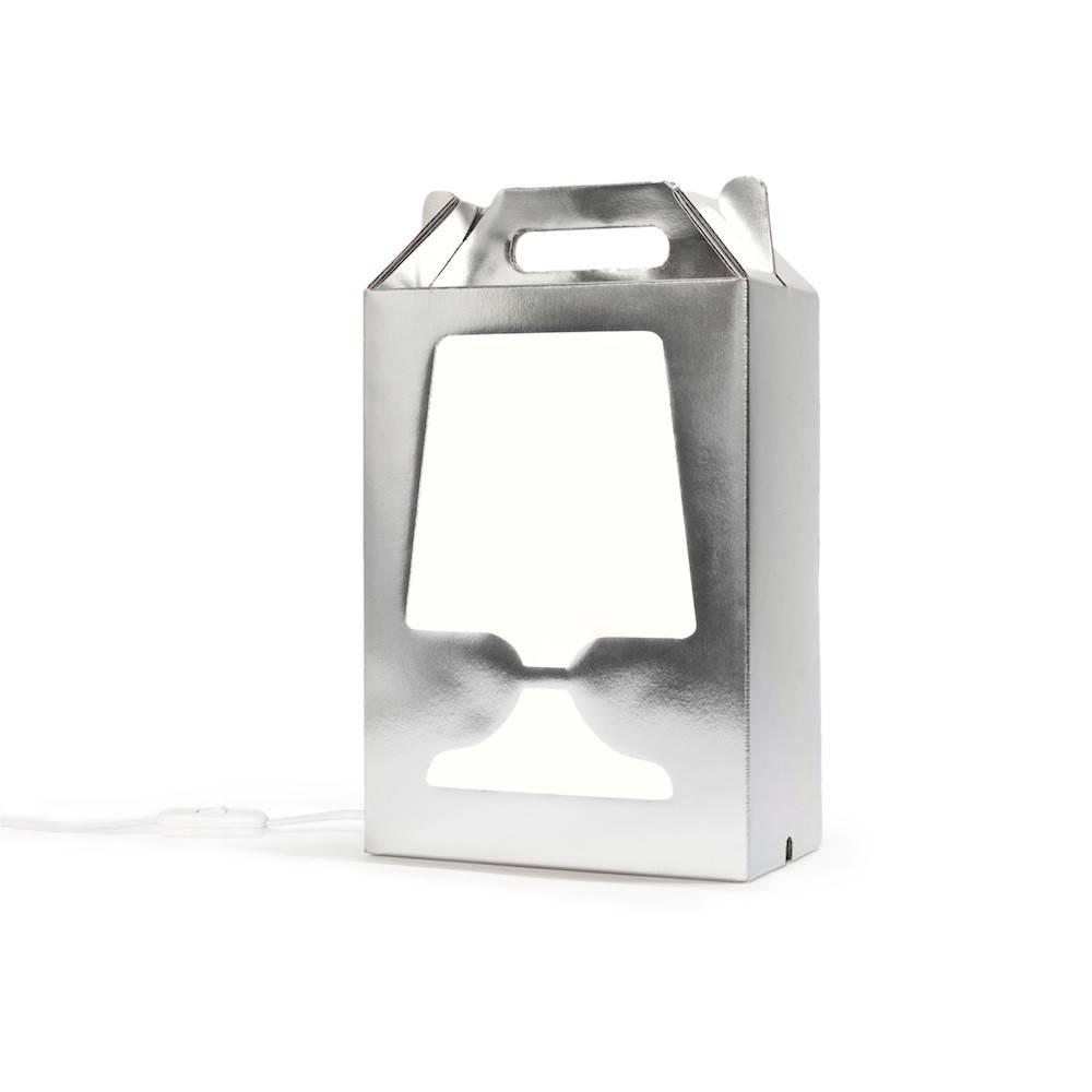 Image of   Flamp Silver SE - bordlampe (sølv/hvid)