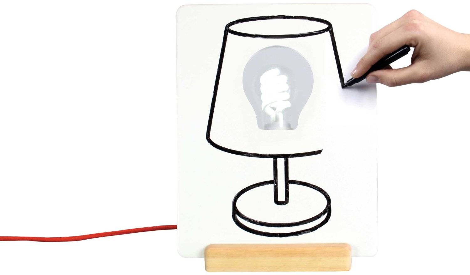 Image of   Bordlampe - Draw Lamp - Design din egen lampe