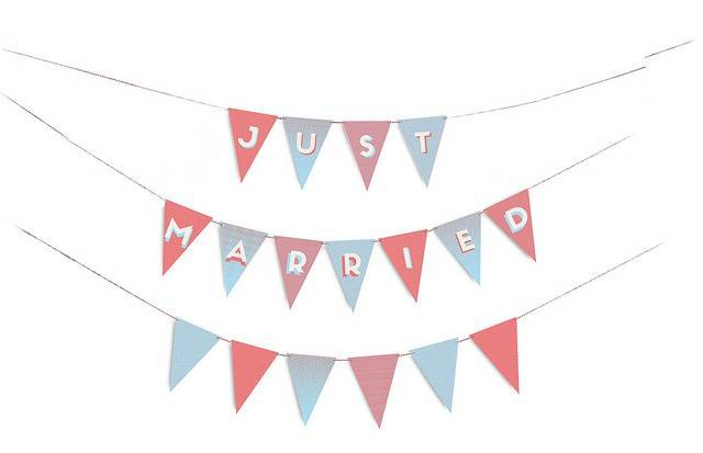 Image of   Flag - Wedding Party Flags