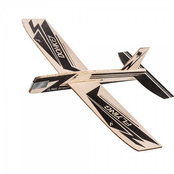 Træ Fly - Mini Svævefly (Flying Donkey)
