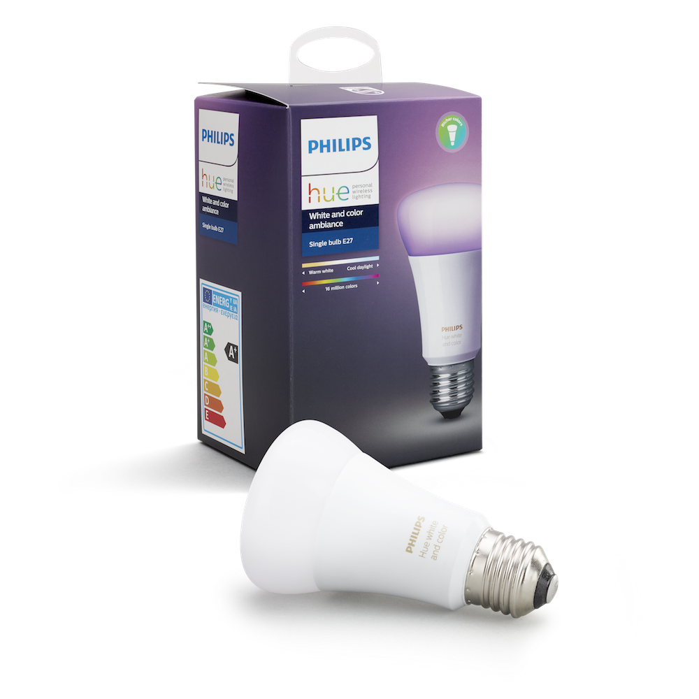 Image of   Philips Hue White and Color Ambiance pære - 10W, A60, E27