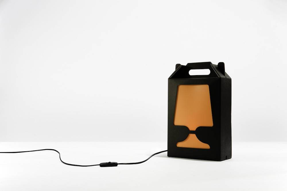 Image of   Flamp Noir - bordlampe (Sort/Orange)