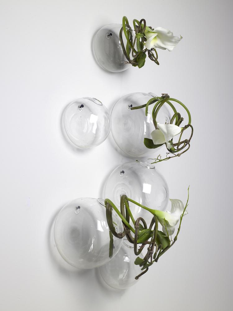 Væghængt vase - Hanging vase - Large - 17x14 cm