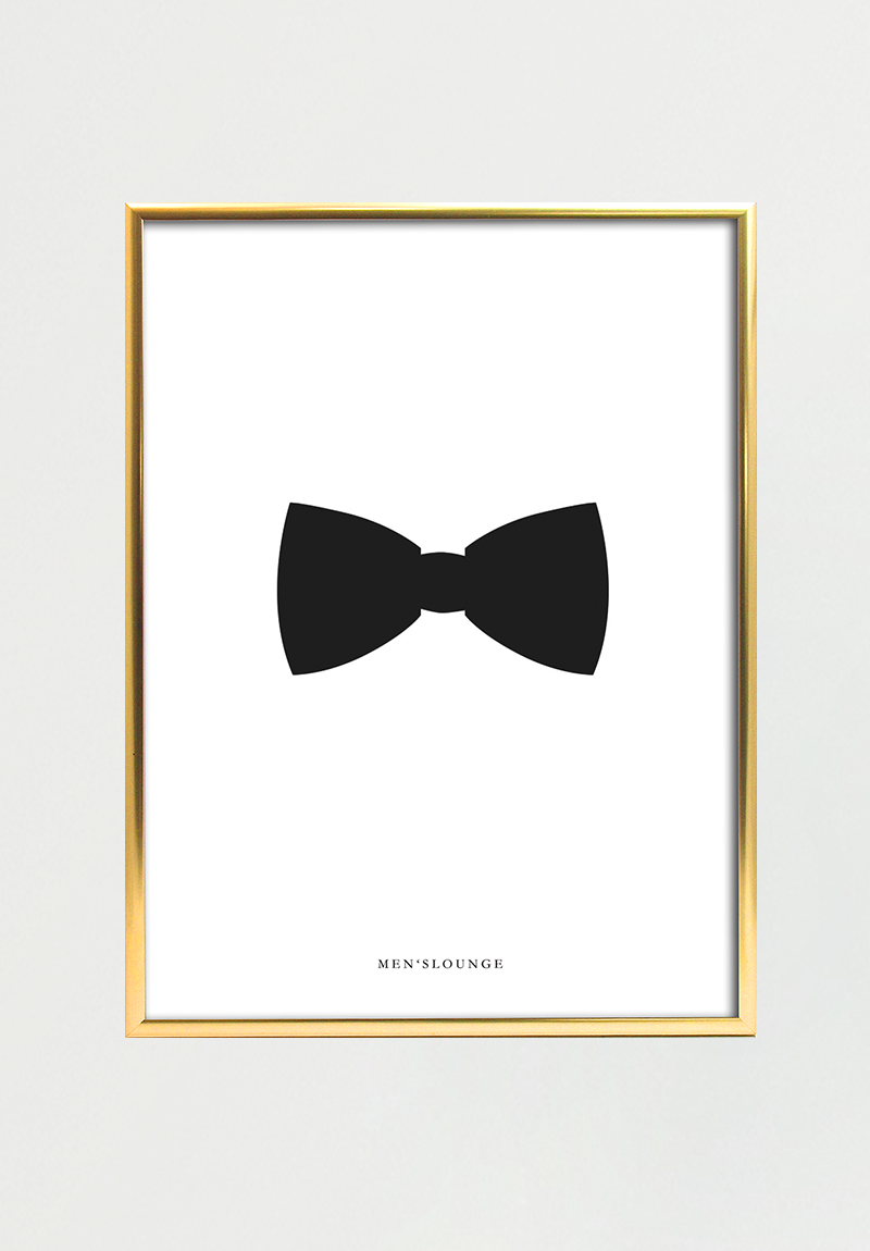 Image of   Black bow tie A4