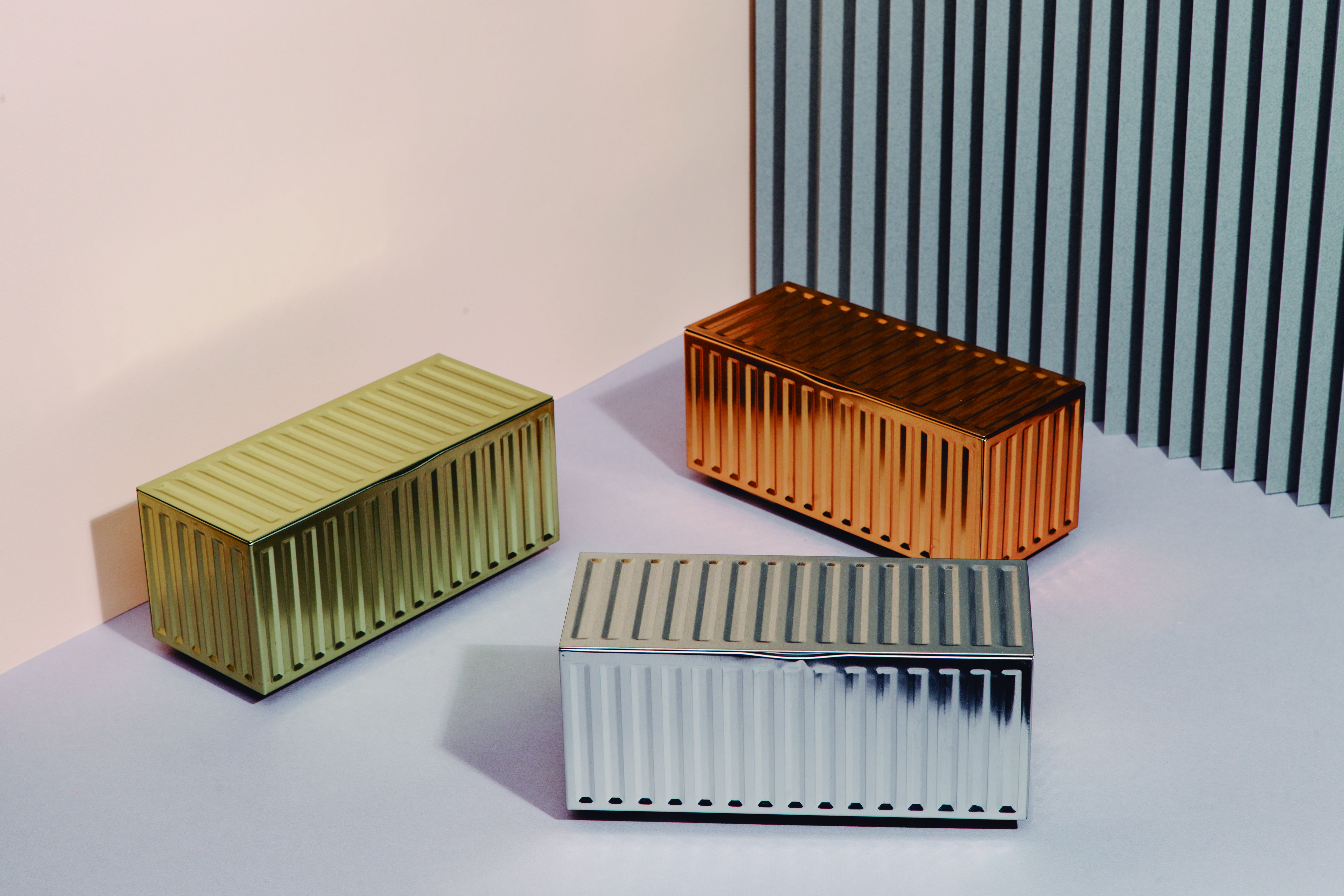 Opbevaringscontainere - Container Boxes (Metal series) 3 stk.