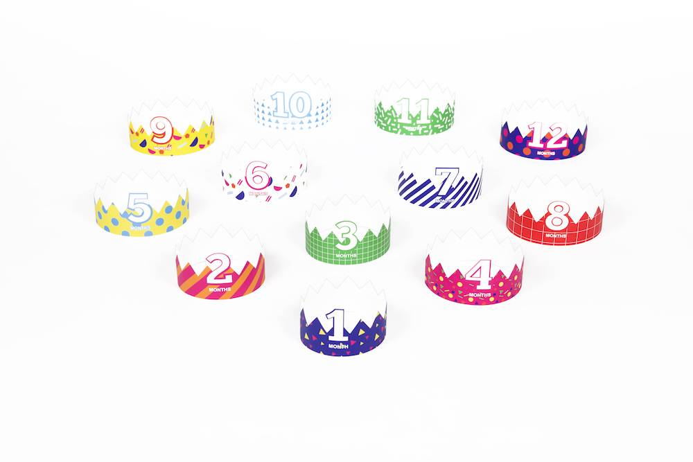 Børnekroner - First year evolution crowns (12 stk.)