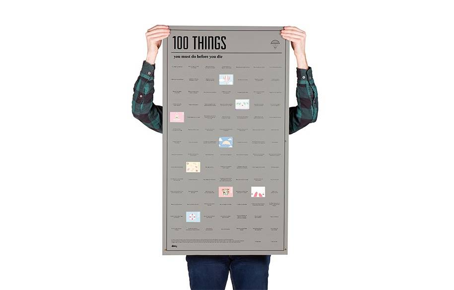 Poster - 100 things you must do before you die