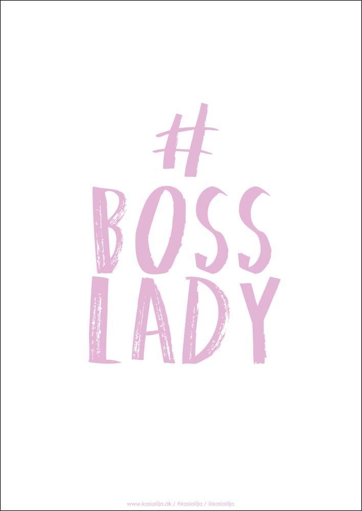 Image of   Kasia Lilja - BOSS LADY (Pink) - Plakat - A4