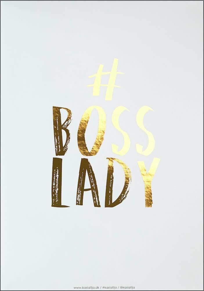 Image of   Kasia Lilja - BOSS LADY (Guld) - Plakat - A4