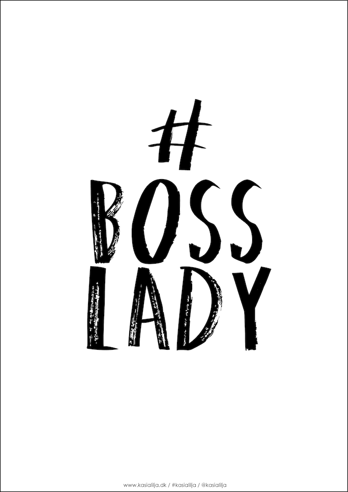 Image of   Kasia Lilja - BOSS LADY - Plakat - A4