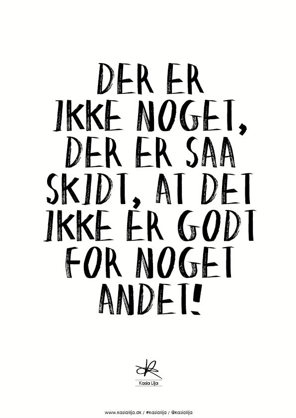 Image of   Kasia Lilja - GODT FOR NOGET ANDET - Plakat - A4