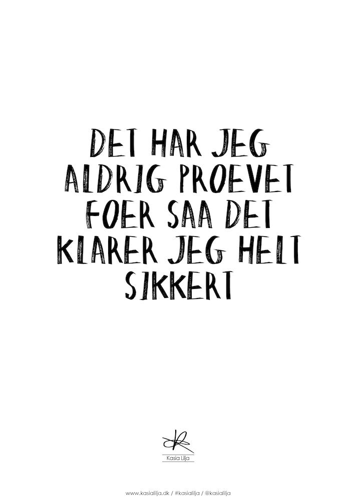 Image of   Kasia Lilja - PRØVET FØR - Plakat - A4