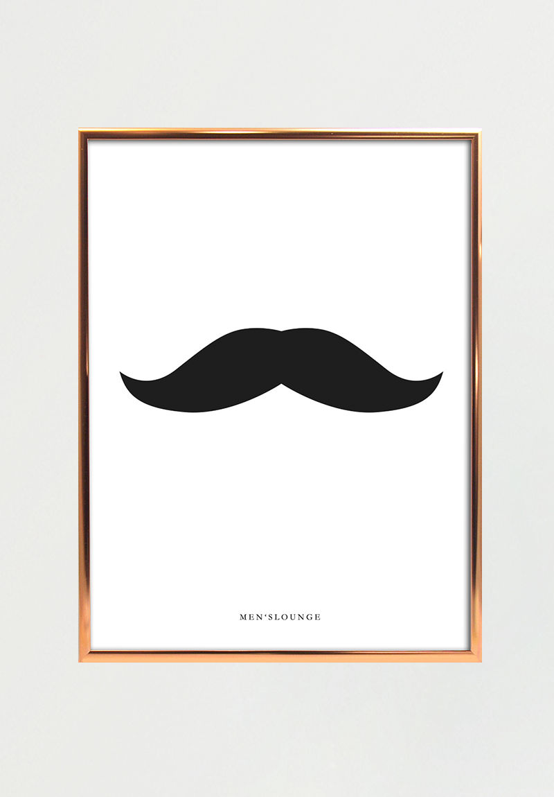 Image of   Black moustache A4