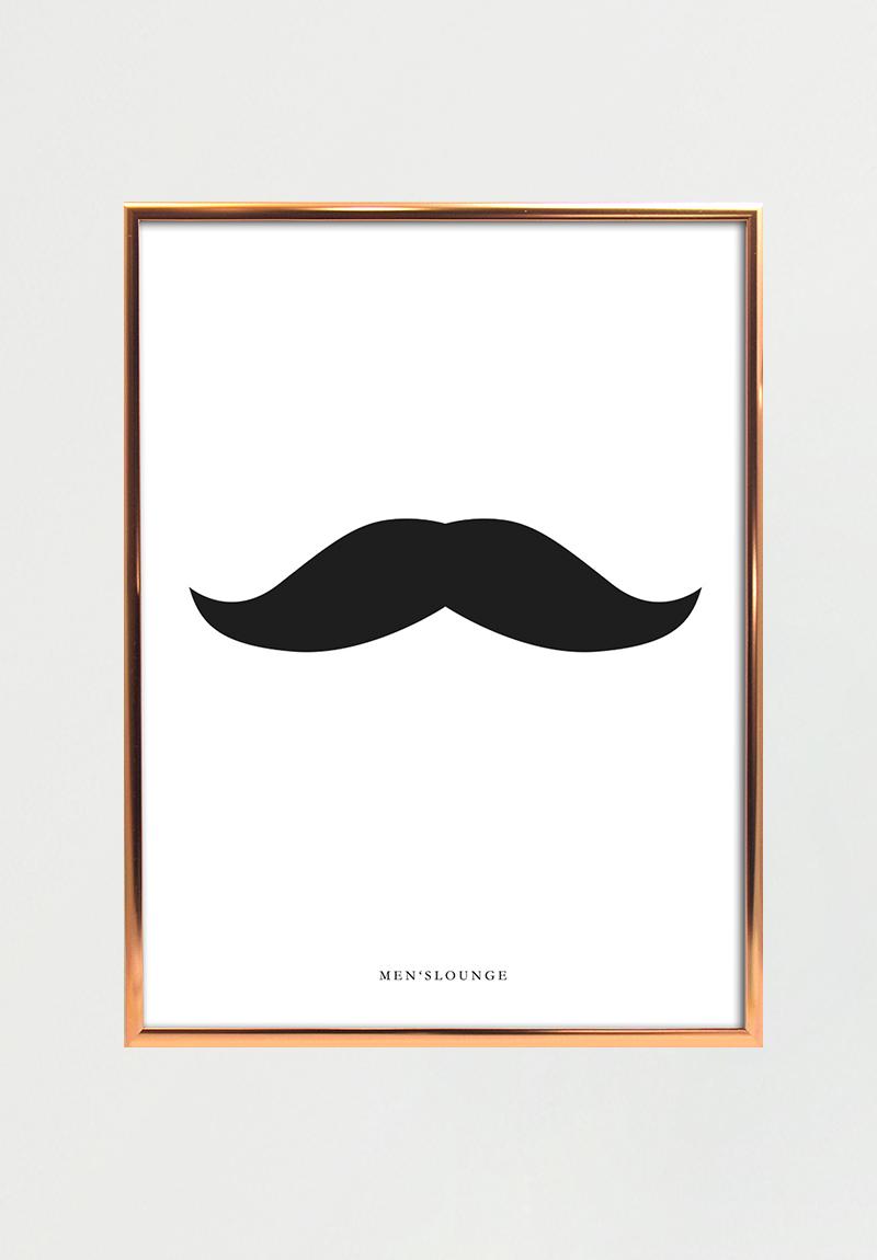Billede af Black moustache A4