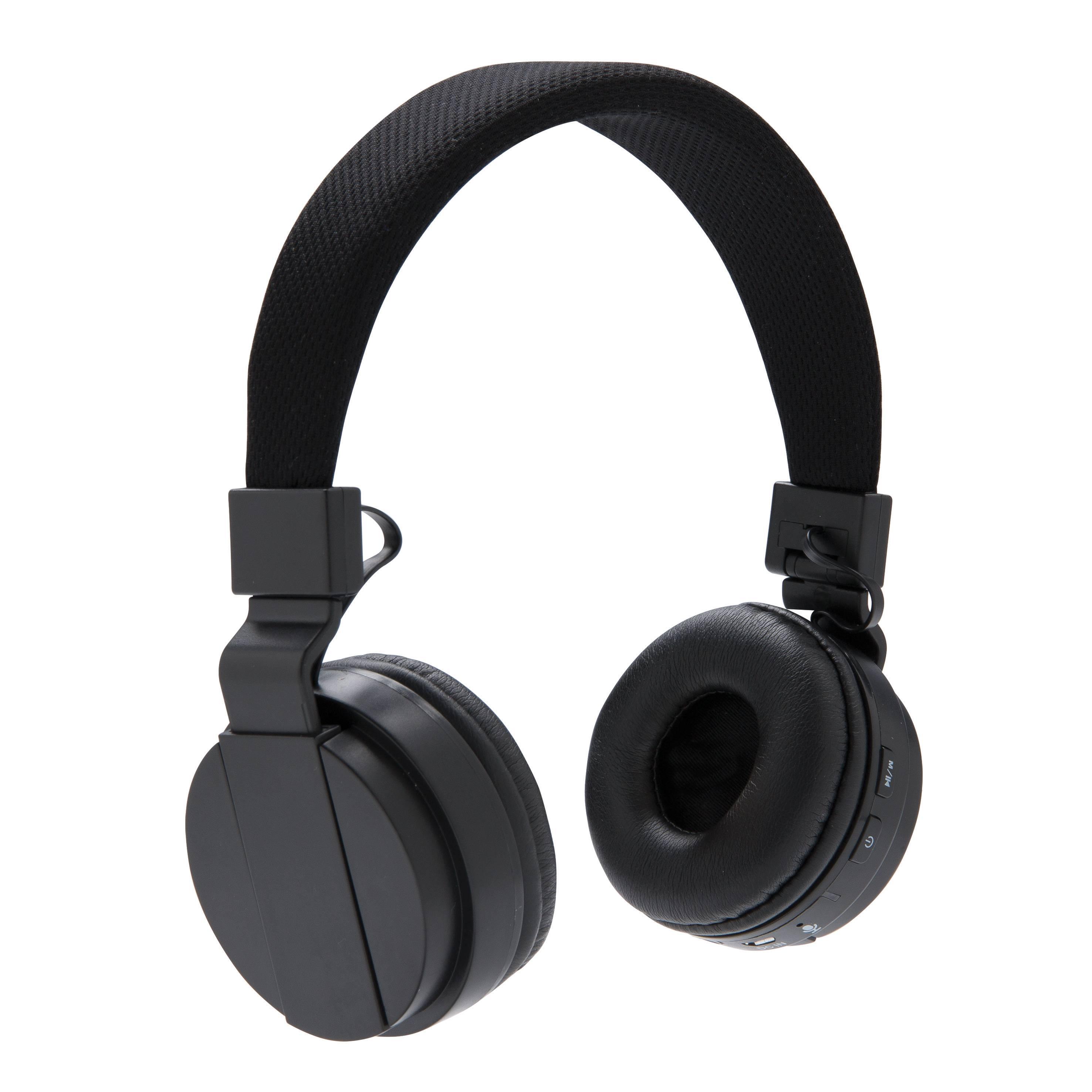 Headset - Foldable bluetooth headphone (Sort) thumbnail