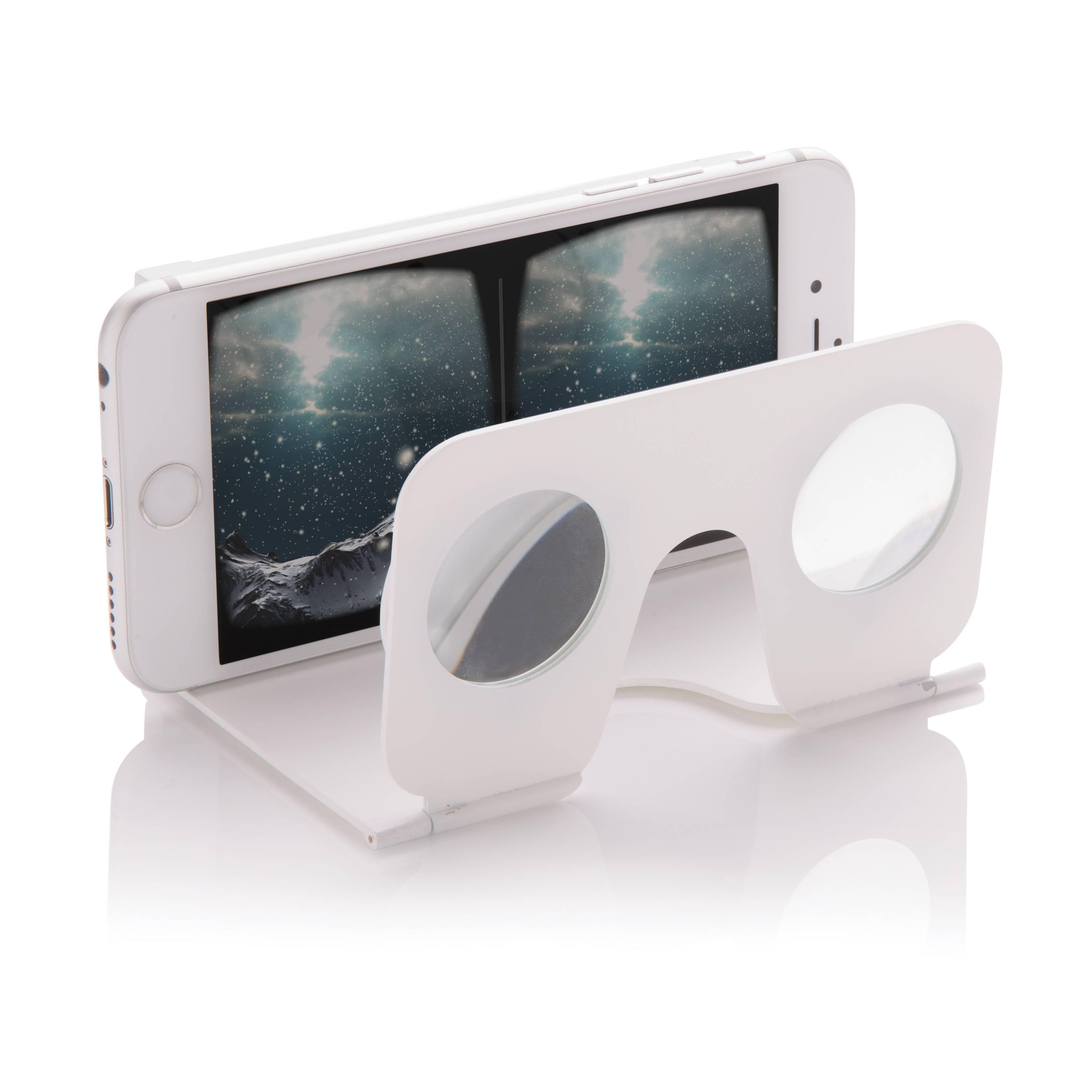 VR brille - Mini virtual reality glasses (Hvid) thumbnail