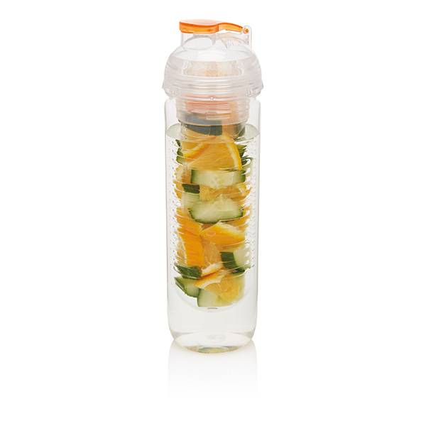 Image of   Vandflaske m. infuser - Water bottle (Orange)
