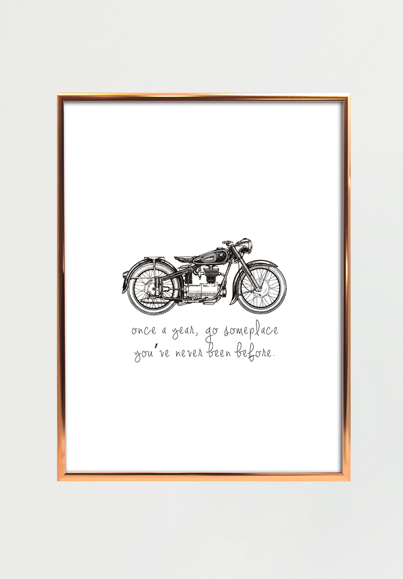 Image of   Vintage Motorcycle A4