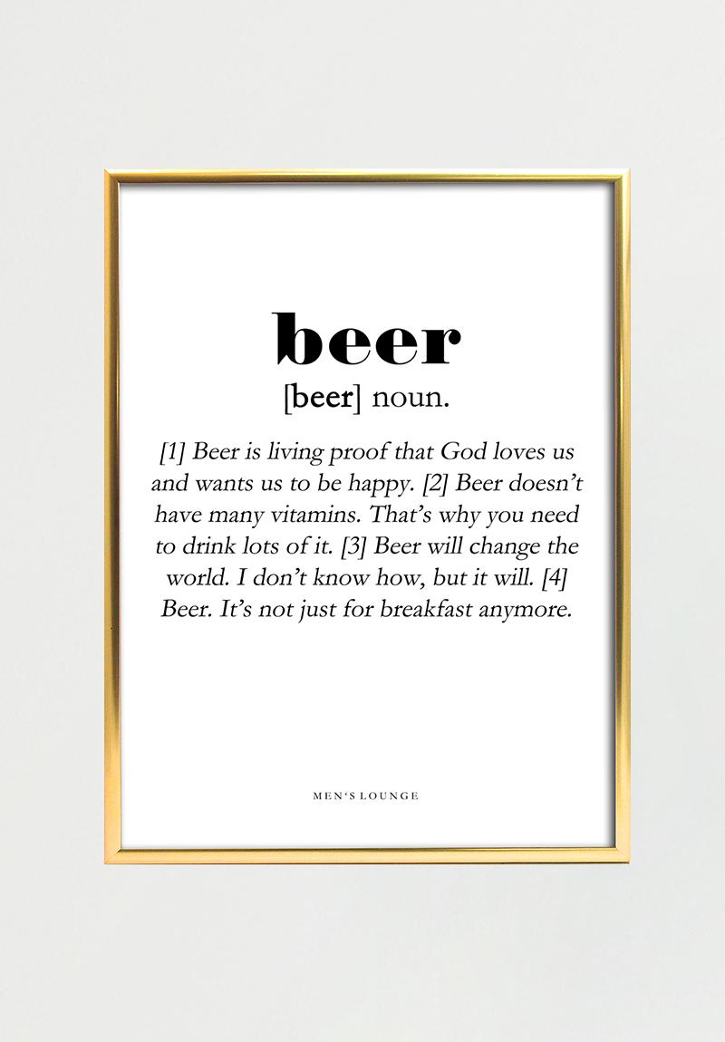 Billede af Beer Definition 30*40