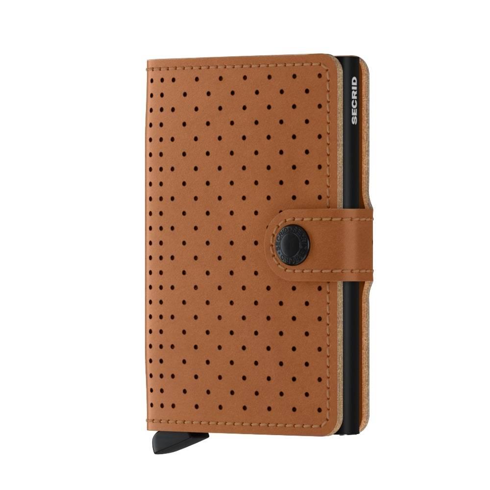 Kortholder - Secrid Miniwallet (Perforated cognac) thumbnail