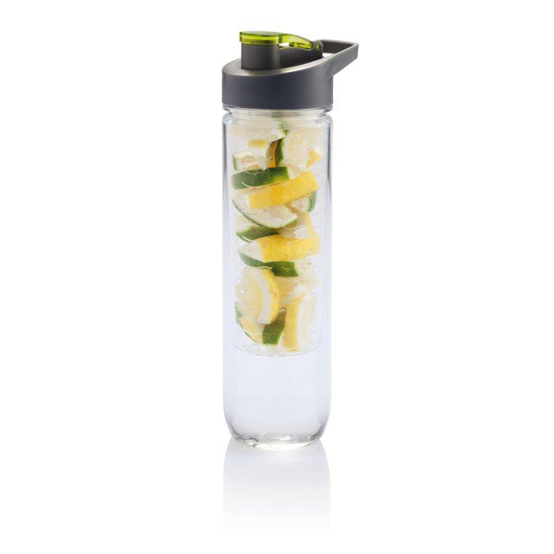 Image of   Vandflaske m. infuser - Water bottle (Grøn) - 800 ml